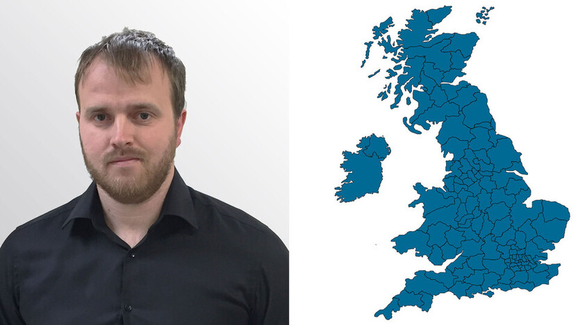 contact person, technical services, profile and map, chris murphy, UK