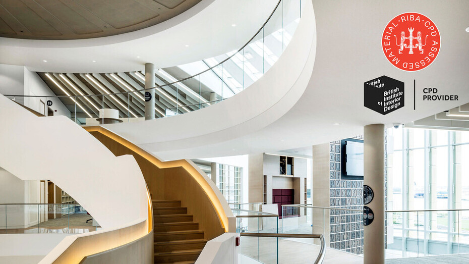 cpd, Continuing Professional Development, RIBA accredited, rockfon, UK, Interior acoustic surfaces for monolithic architecture
