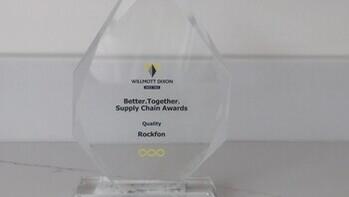 article illustration, supply chain award, quality award, willmont dixon, rockfon, uk