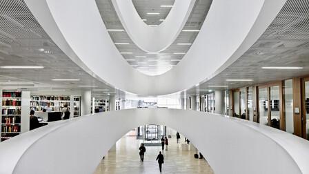 Kaisa House, library, ROCKFON, Mono Acoustic, Industrial Opal, 2012