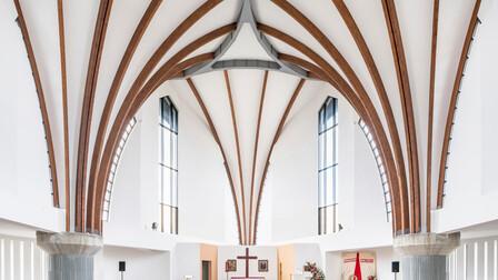 Roman Catholic Parish Church pw. Bl. Frelichowski,Poland,Torun,800 m2,ProSystem Krzysztof Dziewulski,Bartosz Makowski,ROCKFON® Mono® Acoustic,1200x900,White