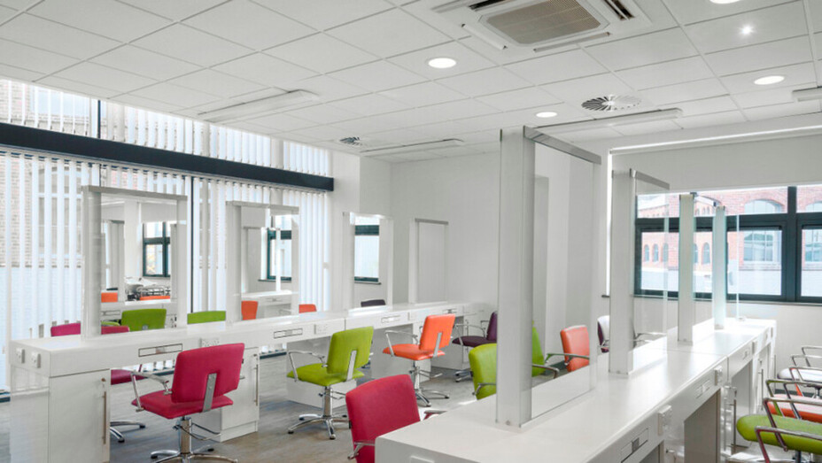 Leeds City College,UK,Leeds,ca. 5000 m²,Main Contractor-GB Building Solutions,Ceased trading,Supplied by contractor,ROCKFON Alaska,white