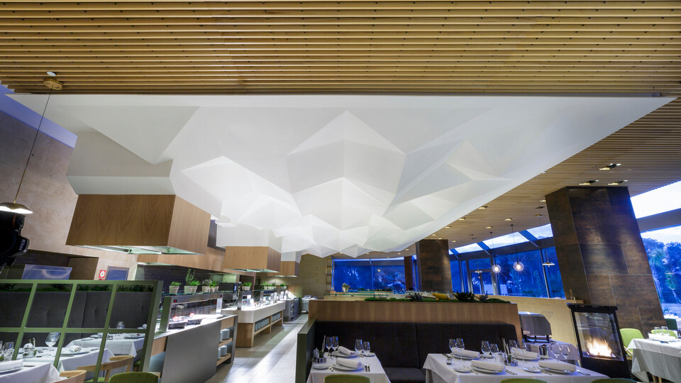 Featured products: Rockfon® Mono® Acoustic, TE, 1200 x 1200