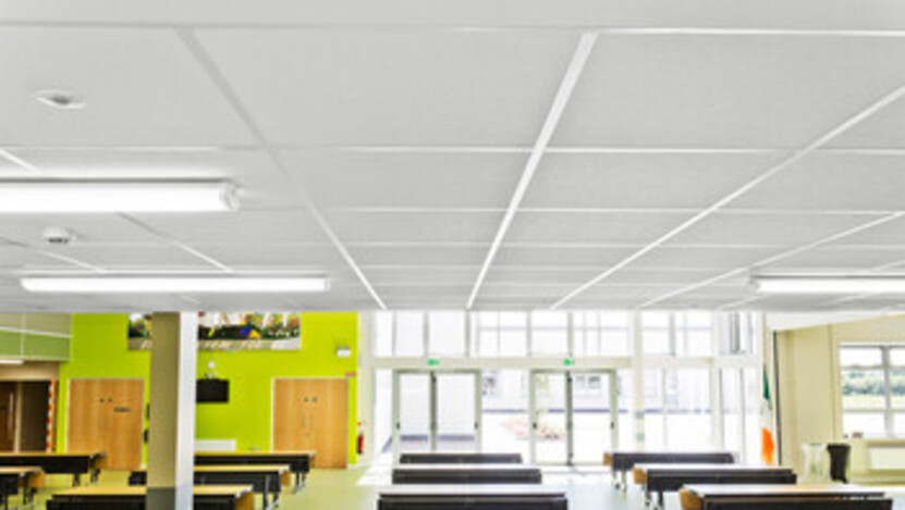 St Joseph's Secondary School,Ireland,Tulla,5.650 m²,Henry J Lyons Architects Dublin,SIG,Main Contractor BAM,Local Council,Hyland Ceilings,Ian  Flavin,Education,Rockfon Artic,A-edge,600x600,white,Chicago Metallic T24 Click 2890