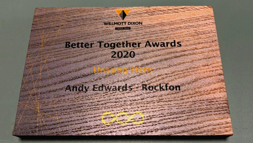 Andy Edwards wins Willmott Dixon's 2020 unsung hero award