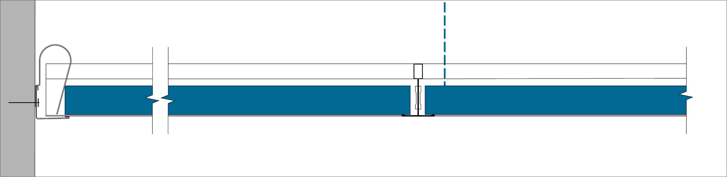 A - Perimeter finish with wall angle trim
